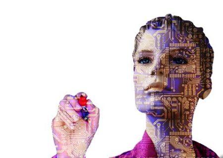 weiblicher Roboter als KI